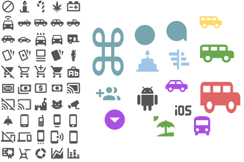 wireframe icon library